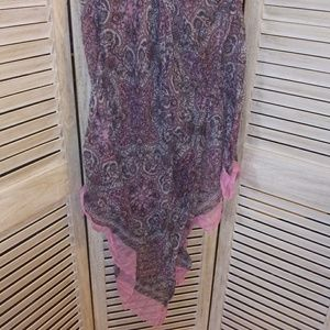 Large scarf / wrap PiNK & Gray delicate lovely